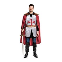 Kostümplanet® Ritter-Kostüm Herren Deluxe Tempel-Ritter Faschingskostüm Größe 56/58 -