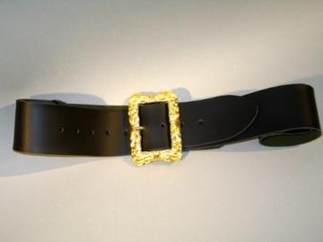 schwarzer Gürtel, , ca. 130 cm, Prachtschließe -