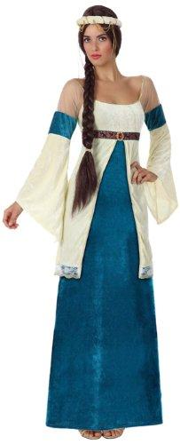 Atosa 8422259154327 – Verkleidung Dame Mittelalter blau, Erwachsene -
