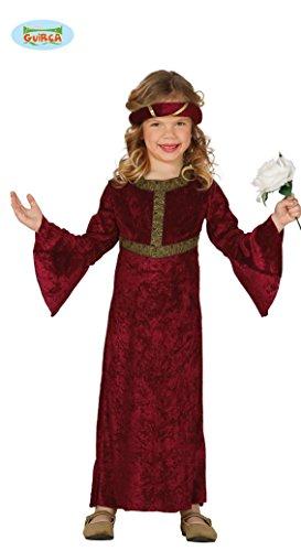 Burgfräulein – Kostüm für Mädchen Gr. 98 – 146, Größe:98/104 -