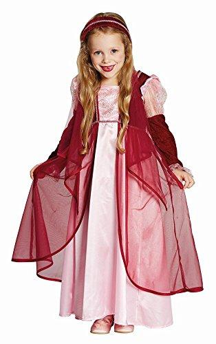 Kinder Kostüm Märchen Prinzessin Burgfräulein Karneval Fasching 104 -