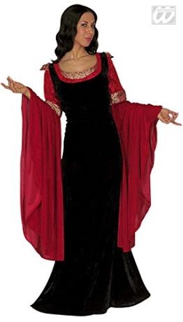 Mittelalter Kostüm rot schwarz -