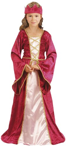 Party Partners 86814 Kinder-Kostüm 'Renaissance Queen', Kleid & Kopfteil, 4-6 Jahren -