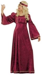 Prinzessin Mittelalter Kinderkostüm weinrot 140 -