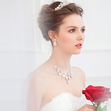 Göttin Kristall Pearl Crown Hochzeit Ball Braut Tiara Blume Kopfbedeckung Princess Haar Zubehör -