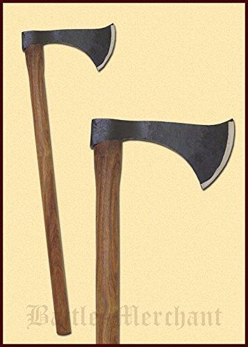 Axt Franziska – Dekorative, mittelalterliche Axt handgeschmiedet aus Stahl -