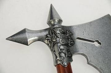 Mittelalter Kampfaxt, Replik Frankreich 15. Jahrhundert, mit Greif Emblem -